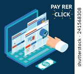 pay per click  infographics... | Shutterstock .eps vector #241568308