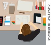 flat design vector illustration ...   Shutterstock .eps vector #241569340
