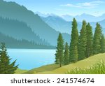 lake in the center of a... | Shutterstock .eps vector #241574674