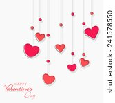 happy valentine's day... | Shutterstock .eps vector #241578550