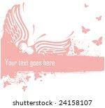 heart and butterflies | Shutterstock .eps vector #24158107