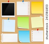 paper notes  sticky papers an... | Shutterstock .eps vector #241581853