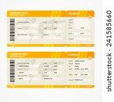 vector orange modern airline...   Shutterstock .eps vector #241585660