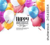 birthday card with colorful... | Shutterstock .eps vector #241610314