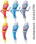fountain pen cartoon character...   Shutterstock . vector #241614790