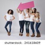 she is so pretty girl  | Shutterstock . vector #241618609