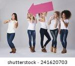 she is definitely confident... | Shutterstock . vector #241620703