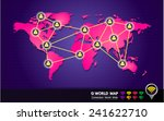 pink world map  people to... | Shutterstock .eps vector #241622710