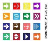 arrow sign icon set isolated on ... | Shutterstock . vector #241623550