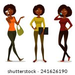 african american girls with... | Shutterstock .eps vector #241626190