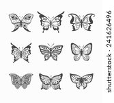 collection of vector stylized... | Shutterstock .eps vector #241626496