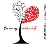 you are mu better half  ... | Shutterstock .eps vector #241627900