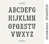 retro alphabet font. type... | Shutterstock .eps vector #241633510
