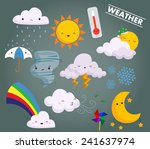 weather vector set | Shutterstock .eps vector #241637974