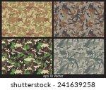 set of camouflage pattern vector   Shutterstock .eps vector #241639258