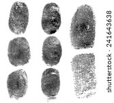 set of fingerprints  vector... | Shutterstock .eps vector #241643638