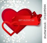 red paper hearts sticker with... | Shutterstock .eps vector #241649044