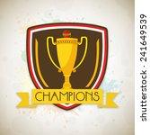 stylish winning shield for... | Shutterstock .eps vector #241649539