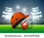 red helmet with ball shining in ... | Shutterstock .eps vector #241649566