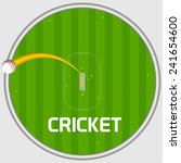 cricket sports concept with... | Shutterstock .eps vector #241654600