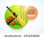 stylish sticky design with bat  ... | Shutterstock .eps vector #241654606