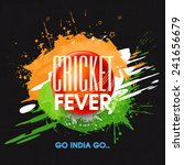 cricket fever concept with red... | Shutterstock .eps vector #241656679