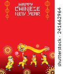 chinese new year frame with... | Shutterstock .eps vector #241662964