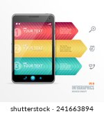 vector smartphone with...