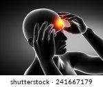 man migraine headache concept...   Shutterstock . vector #241667179