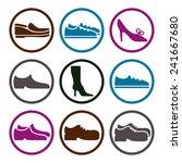 footwear icon vector set ...   Shutterstock .eps vector #241667680