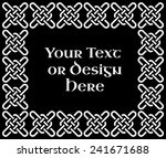 a black and white ornate... | Shutterstock .eps vector #241671688
