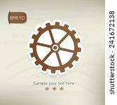 gear symbol sticker design...