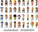 set of vector cute character... | Shutterstock .eps vector #241681024