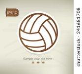 volleyball symbol sticker... | Shutterstock .eps vector #241681708