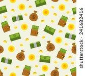 seamless money pattern on white ... | Shutterstock .eps vector #241682416