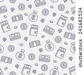 Seamless Money Pattern On Whit...