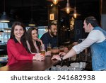 perfect beer party. portrait of ... | Shutterstock . vector #241682938
