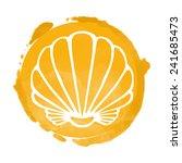 watercolor orange circle paint...   Shutterstock .eps vector #241685473