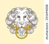 heraldic lion head classic door ... | Shutterstock .eps vector #241694008
