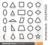 set of geometric shapes.... | Shutterstock .eps vector #241694320