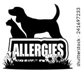 black and white allergies icon... | Shutterstock .eps vector #241697233