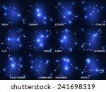 Set Of Symbol Zodiac Sign....