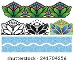 decorative border design with... | Shutterstock .eps vector #241704256