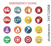emergency long shadow icons ... | Shutterstock .eps vector #241712008