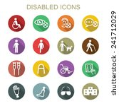 disabled long shadow icons ... | Shutterstock .eps vector #241712029