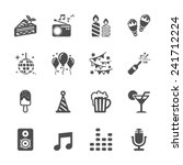 celebration and party icon set...