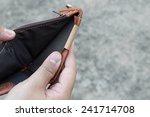 broke man showing his brown... | Shutterstock . vector #241714708