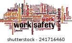 work safety word cloud concept. ... | Shutterstock .eps vector #241716460