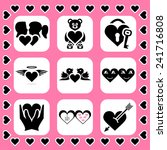 love and couple related vector... | Shutterstock .eps vector #241716808