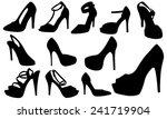 women shoes set  | Shutterstock .eps vector #241719904